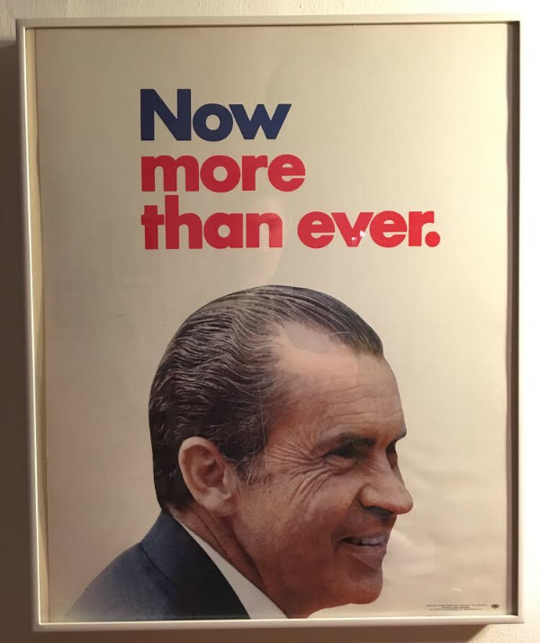 Nixon's Campaign Poster Featured in 'Now More Than Ever', April 15 - May 27 at Washington Project for the Arts; October 2017; Digital image.