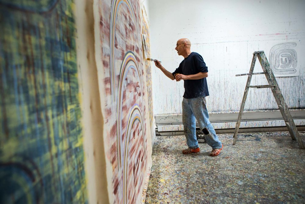 Steven Cushner in his studio 2016, Max Hirshfeld