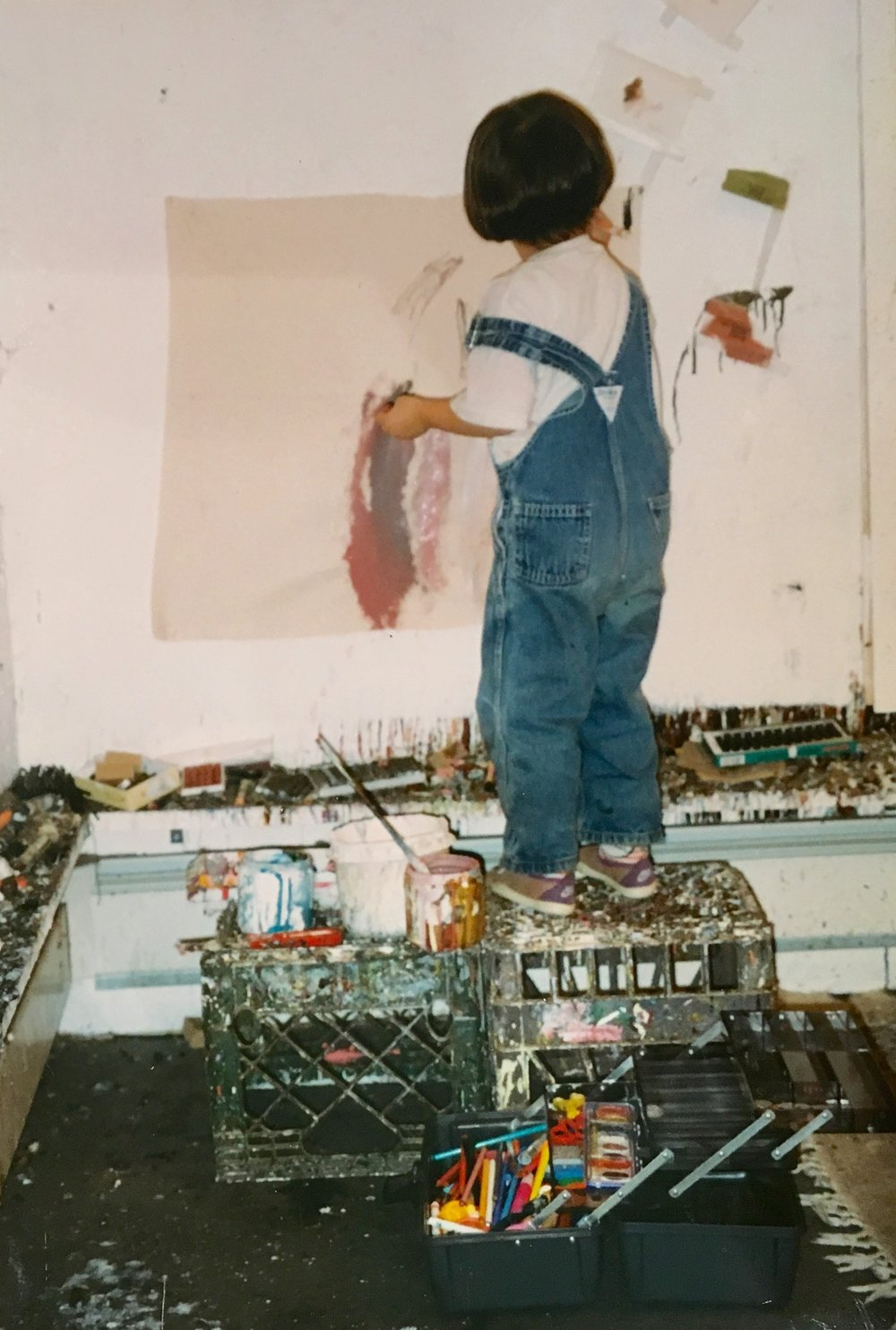 Daizy Cushner In The Studio,  1992