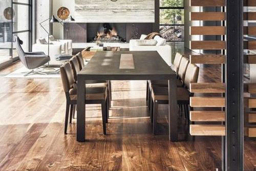 Sarah Jones Interior Shown: Custom Nolita Dining Table, Nolita Upholstered Chairs