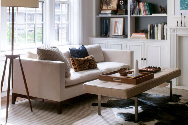 Katie Lydon Interiors Shown: Darin Daybed, Custom Grove Sofa