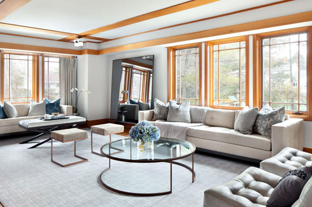 Clean Design Group Shown:Hudson Sofa, Darin Stool, Bleecker Cocktail Table, Betty Mirror