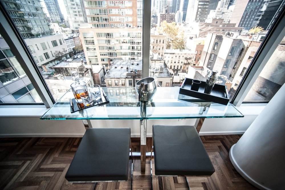 Deana Victoria Home Design Shown: Darin Counterstool, Custom Chrysler Table