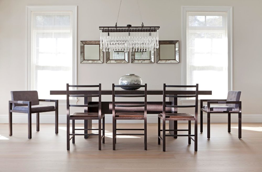 Purvi Padia Design Shown: Cooper Tall Chair, Mercer Chair, Bedford Dining Table