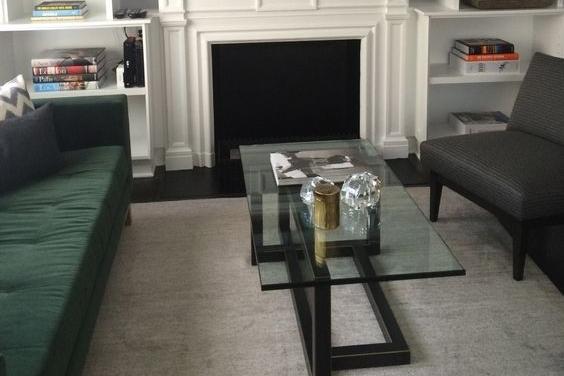 Rasmussen - Williamsburg Apartment Shown: Hudson Sofa, Custom Chrysler Cocktail Table