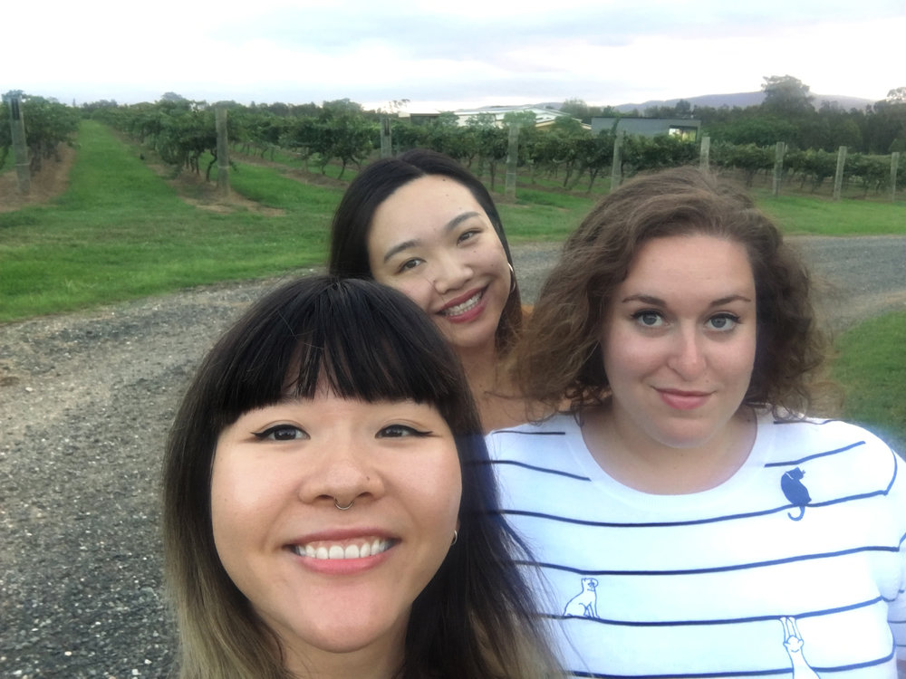 Obligatory vineyard shot (haha we missed a turn and saw a vineyard so we hopped out to take this photo and scurried back into the car half a minute later)