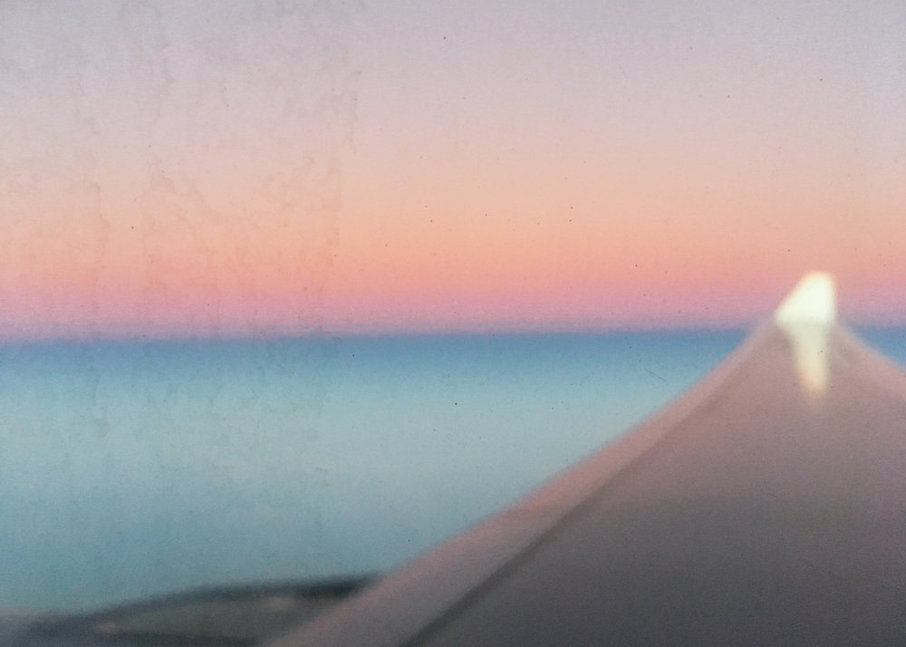 Sick gradient as the plane arrived in Sydney.