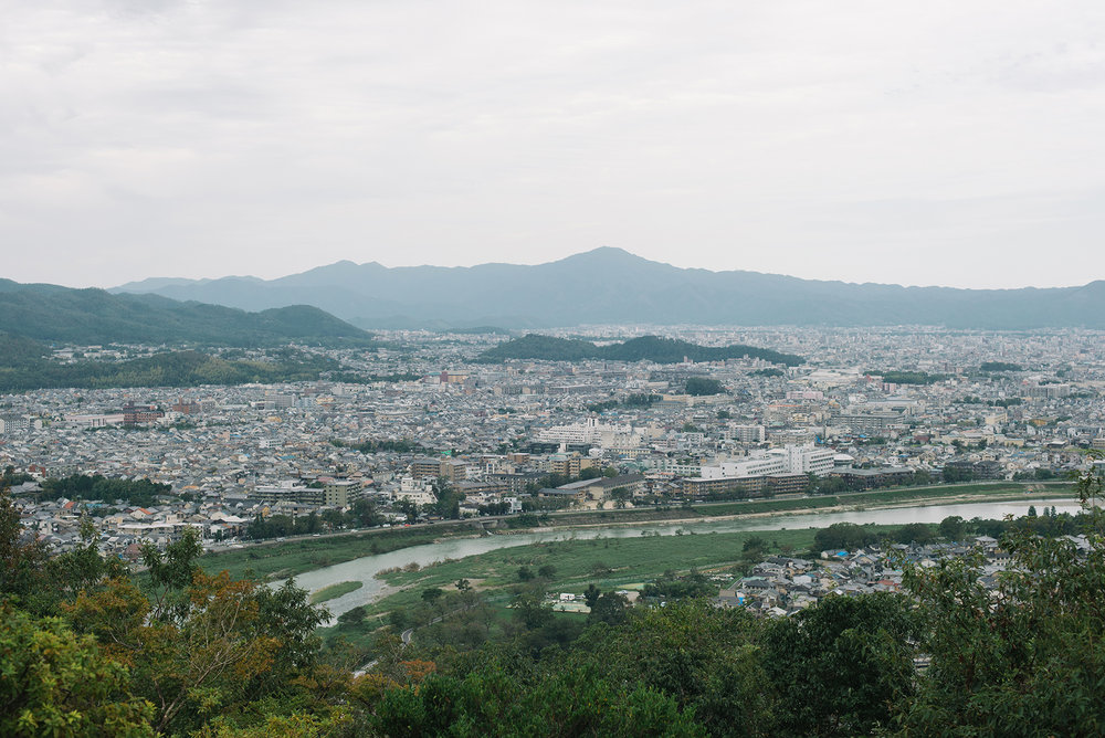 Arashiyama from the monkey park