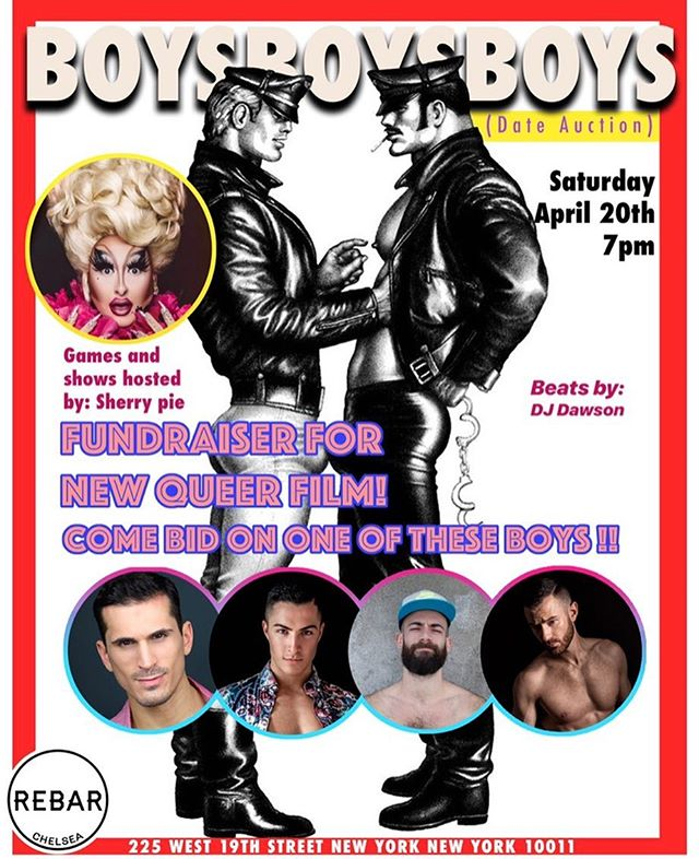 Date Auction this Saturday 😈 Bid on these sexy guys in support of a new queer film 🌈 Come play games with @misssherrypiexo and watch her put on shows. 👸🏻 Win a date and get free tickets to the screening. 🎥🍿Date vouchers provided. Your bachelors are @dannyandanchor @danscags @tylerhasarrived & @alfiedalpino 😉 HAPPY BIDDING 😉