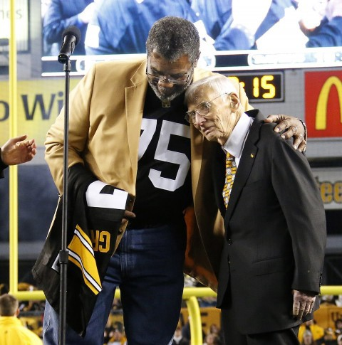 Joe Greene and Dan Rooney