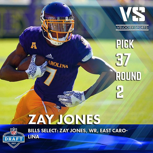 Bills select: Zay Jones, WR, East Carolina .. .. .. #DraftDay #NFL #NFLdraft #NFLdraft2017 #Football  #Sports #VelocitySports #collegefootball #Bills #buffalobills #buffalo #buffaloNY #BillsMafia #BillsDraft #GoBills #Card #Pirates #EastCarolinaPirates #EastCarolina #EastCarolinaUniversity #eastcarolinauniversityfootball