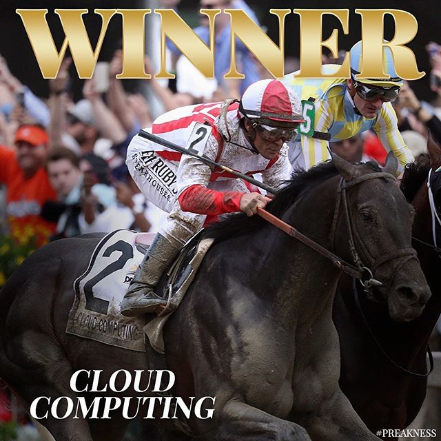 Congrats to #CloudComputing in #preakness ... Javier Castellano makes the right call on switch from Gunnevera. Let's hope for rematch in #belmont