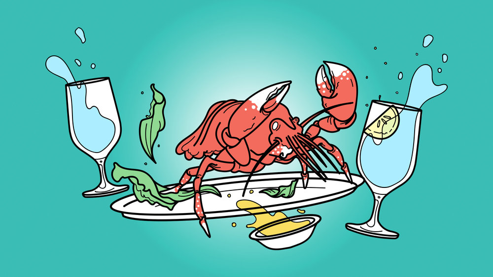 "Illustration for  The Takeout  article,  ""Do not consider the lobster"""