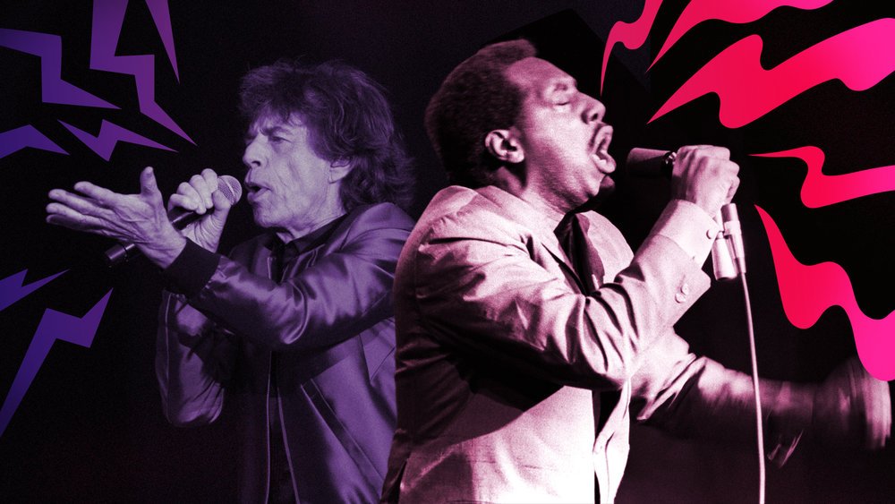 "Graphic for  The A.V. Club  article,  ""Otis Redding plays the Stones: 9 incredible cover songs"""