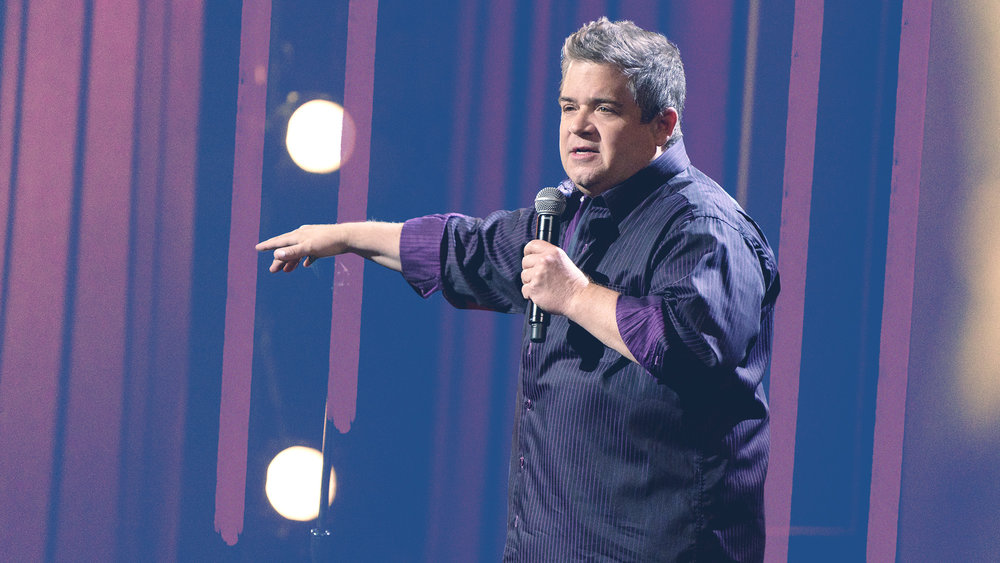 "Graphic for  The A.V. Club  article,  ""You've got to walk yourself to the edge"": Patton Oswalt talks despair and defiance"""