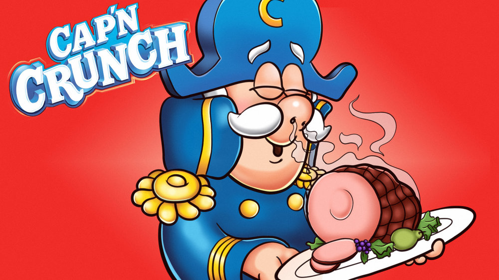 "Illustration for  Clickhole  article,  ""  4 Cap'n Crunch Commercials Where Cap'n Crunch Seems Way More Excited About Lunch Meat Than Cereal  """