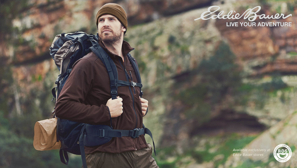 "Photoshop composite for  The Onion  article,  ""Eddie Bauer Announces New Line Of Brown Clothes"""