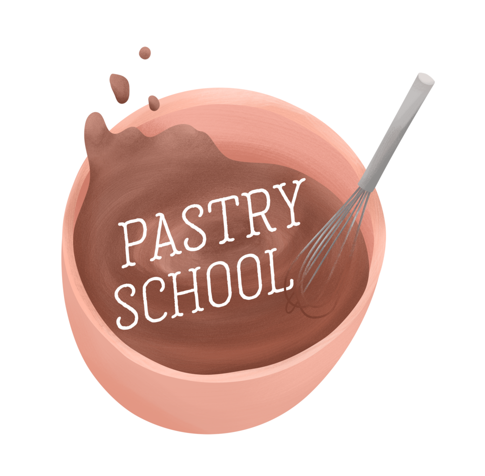 "Badge for  The Takeout  series, ""Pastry School"""