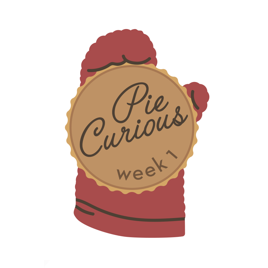 "Badge for  The Takeout  series, ""Pie Curious"""