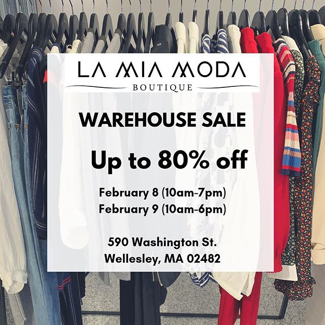 Our Warehouse Sale starts today! #tgif