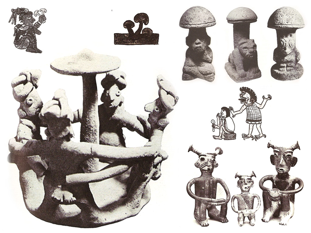 Ancient mushroom iconography from Central and South America