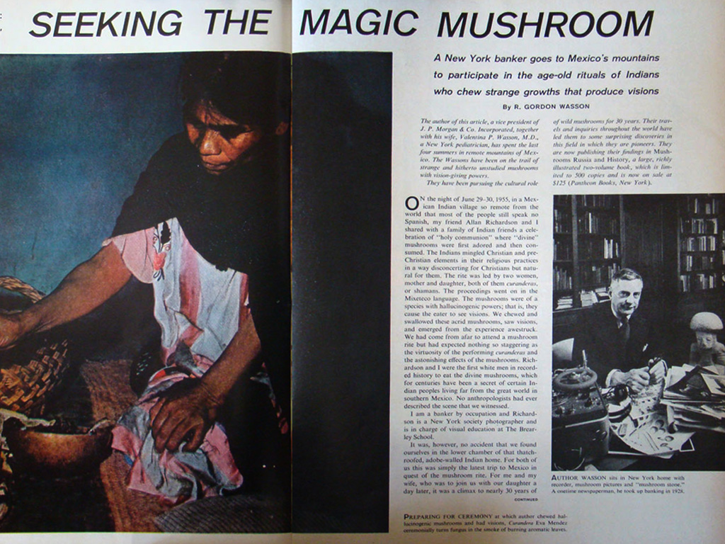 Gordon Wasson's influential 1957 LIFE Magazine article