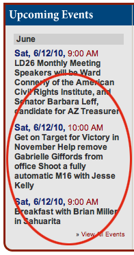 Ad from Jesse Kelly, Gabrielle Giffords' electoral opponent