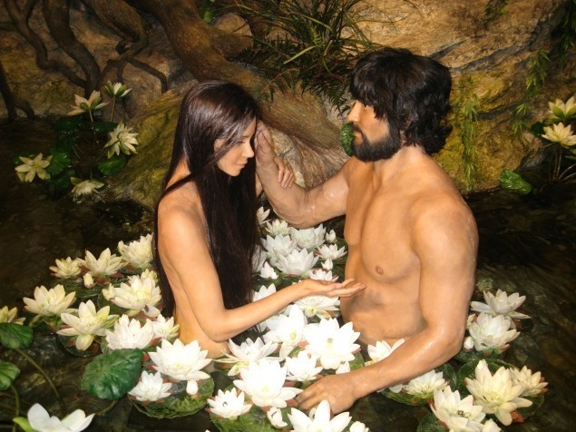The Creation Museum's Adam and Eve.