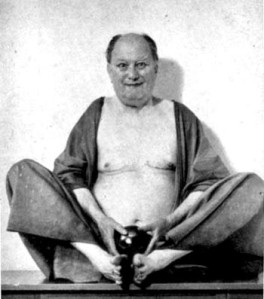 Aleister Crowley (seated)