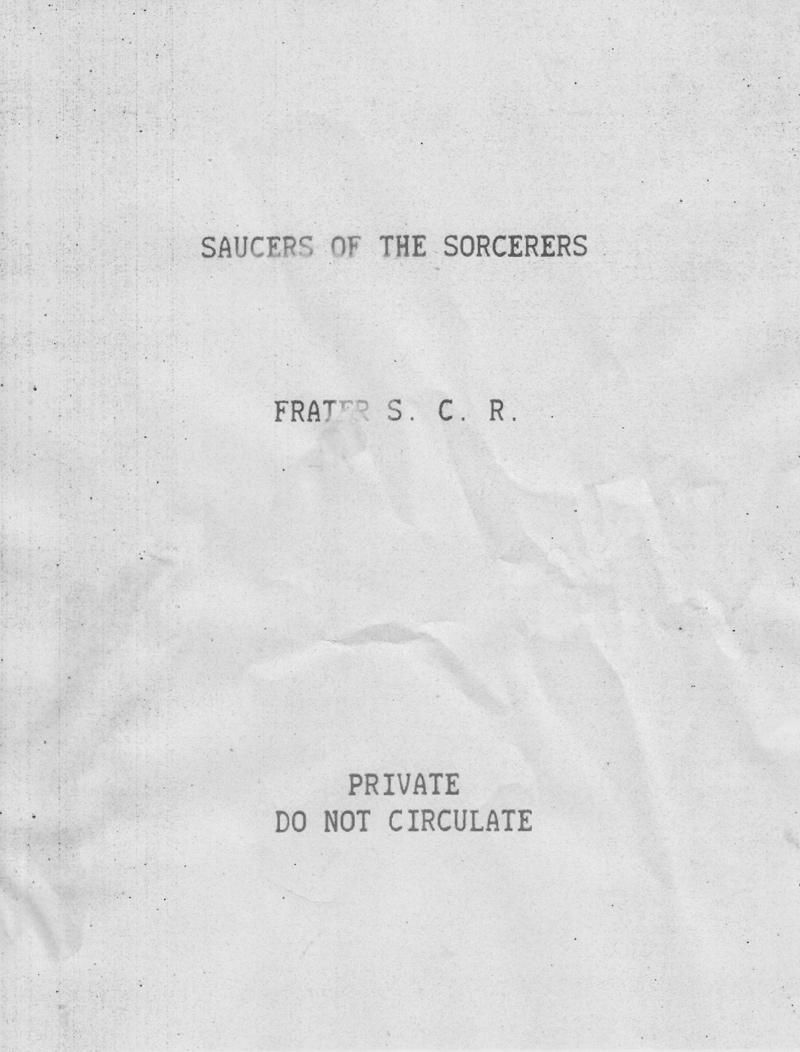 Saucers of the Sorcerers mss cover scan