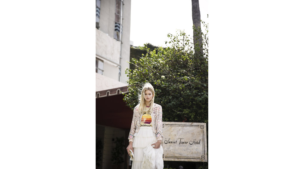 Junk Food t-shirt,Needle and Thread jacket,Korovilas skirt