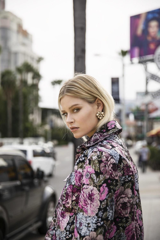 H&M jacket, Erickson Beamon earrings