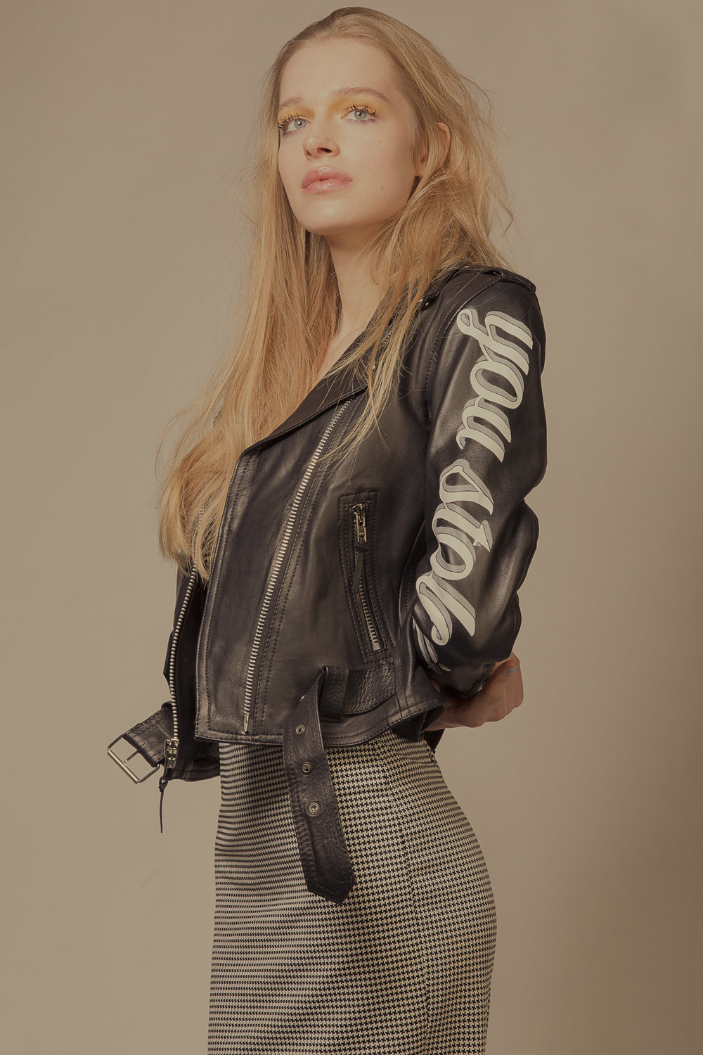 Laurie Leather Jacket, Blitz London skirt