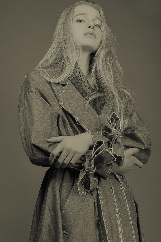 Xiao Li trench coat,Jayne Pierson mesh
