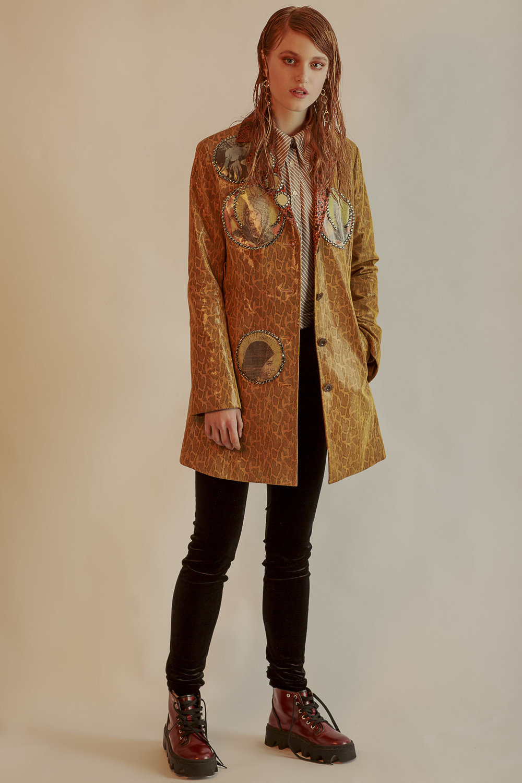 Dans La Vie leather jacket, Blitz Lodon shirt, Preen Line trousers, Underground Shoes boots