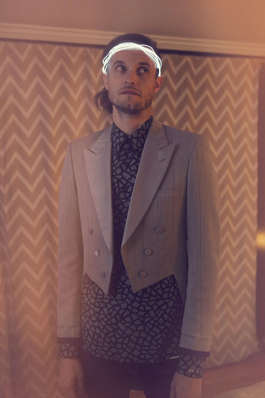 Christian Dior vintage tuxedo, AG Dylan jean