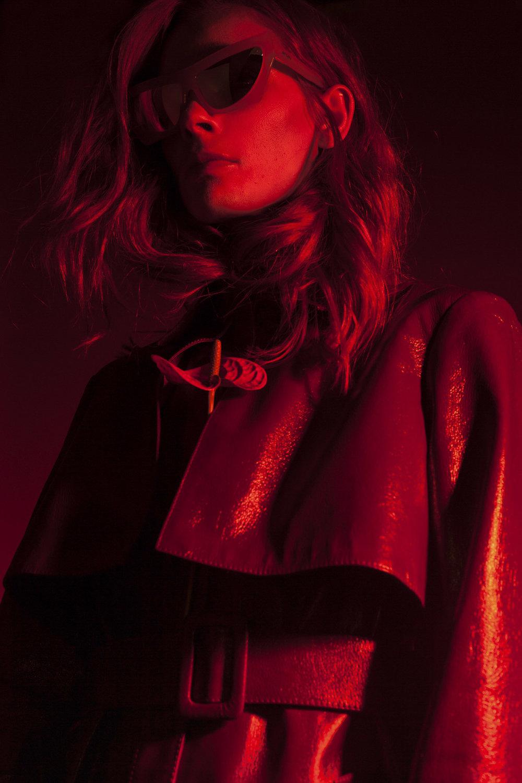 Fakoshima sunglasses, Daria Bardeeva coat
