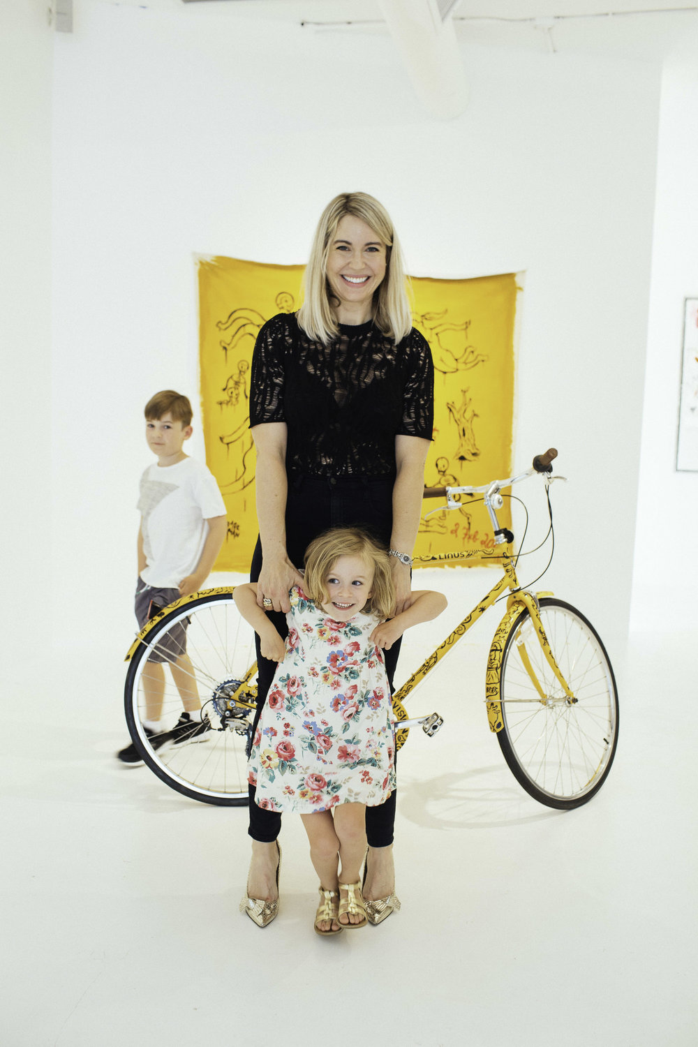 Cheryl Lee Scott, her daughter Kiki and her son Hayden shot by Josh Franklin at the opening of 'TEN'