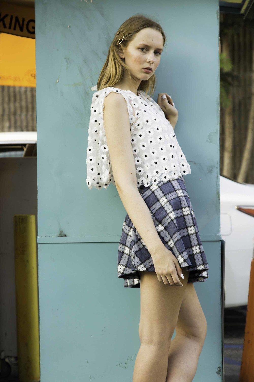 Asilio shirt,Single skirt,Wanderlust + Co barettes