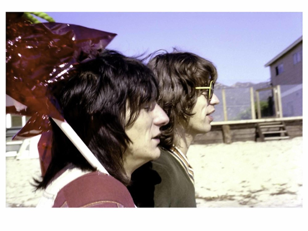 Mick and Ronnie with Red Balloons Mick Jagger and Ronnie Wood, Malibu Beach, California 1976 Chromogenic Print 30 x 42 in. (76.2 x 106.7 cm) Limited Archival Edition