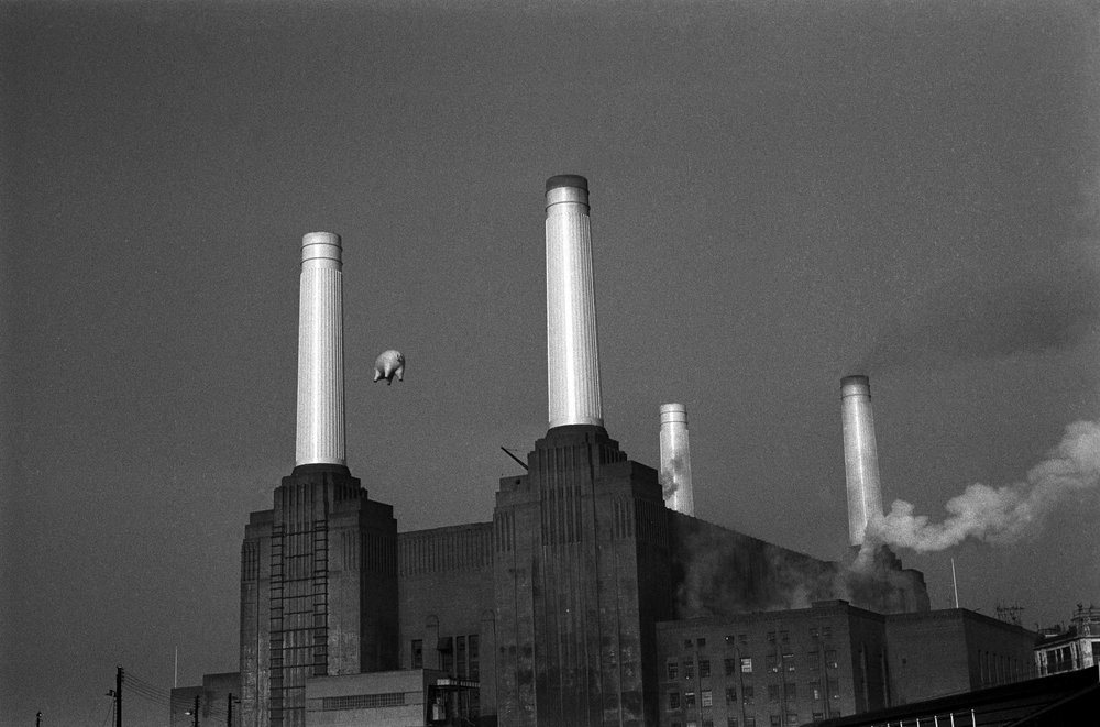 Pink Floyd Animals, Animals Cover Shot Battersea Power Station, London, 1976 Silver gelatin fine art limited edition print 16 x 20 in. (40.6 x 50.8 cm) Edition 10/25
