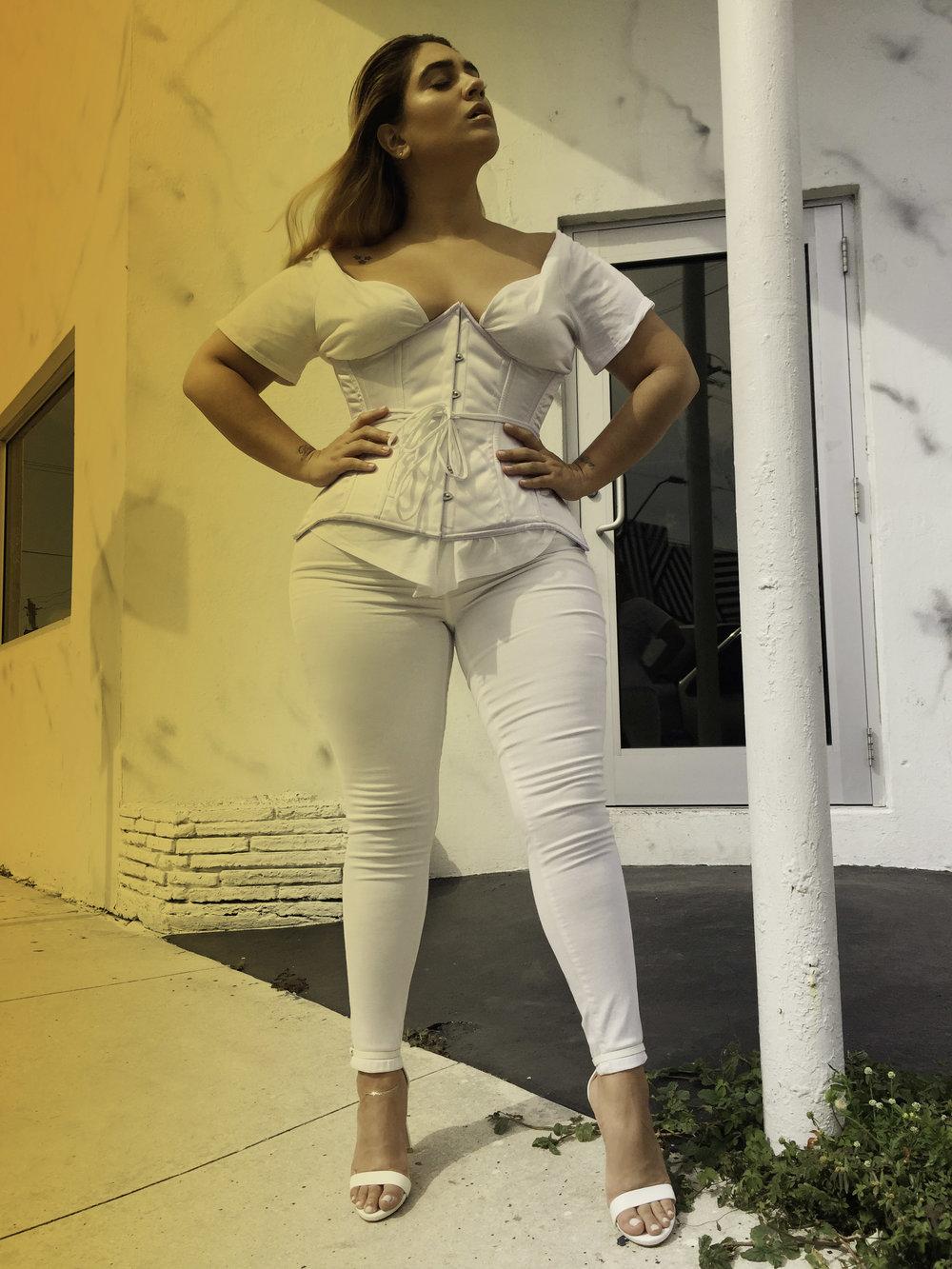 Orchard corset, Forever 21 top,Topshop jeans, Steve Madden heels