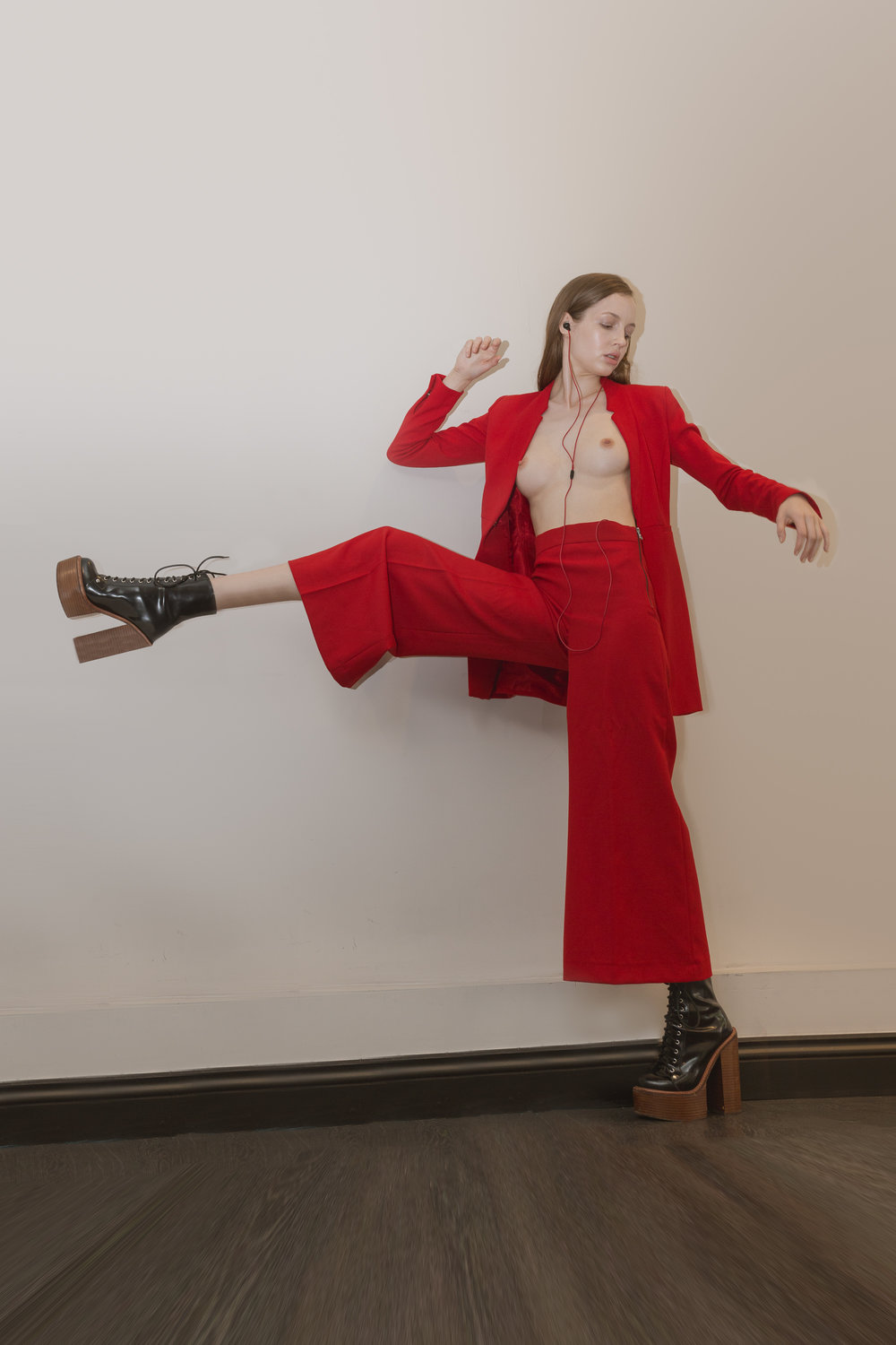 Whistles jacket,Coast trousers,Jeffrey Campbell platfrom boots