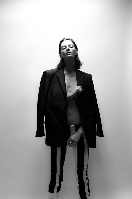 Stylist's own jacket, Acne Studios pants