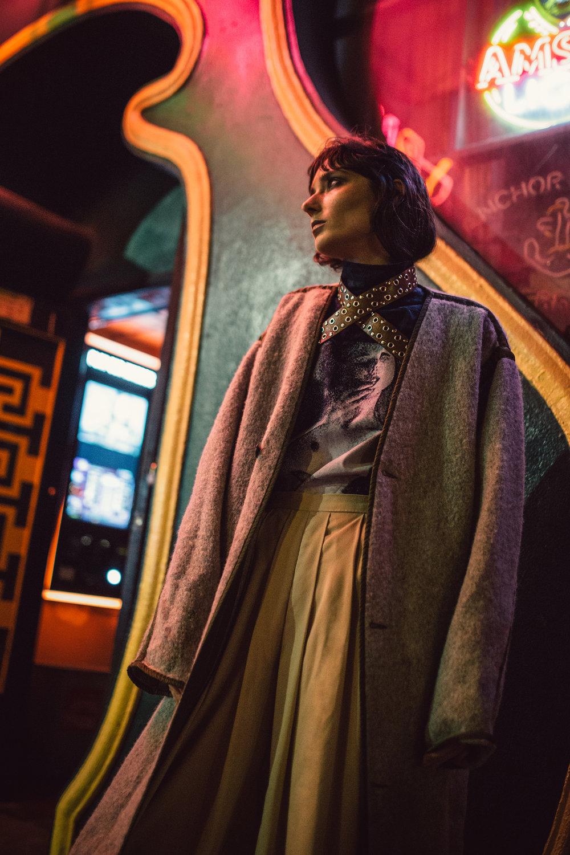 Reformation coat,Deluxe Japan shirt,Revolve belt,Monki belt