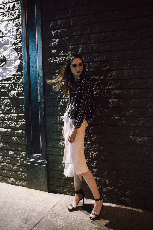 Rachel Comey jacket,Yohji Yamamoto skirt,Calvin Klein heels
