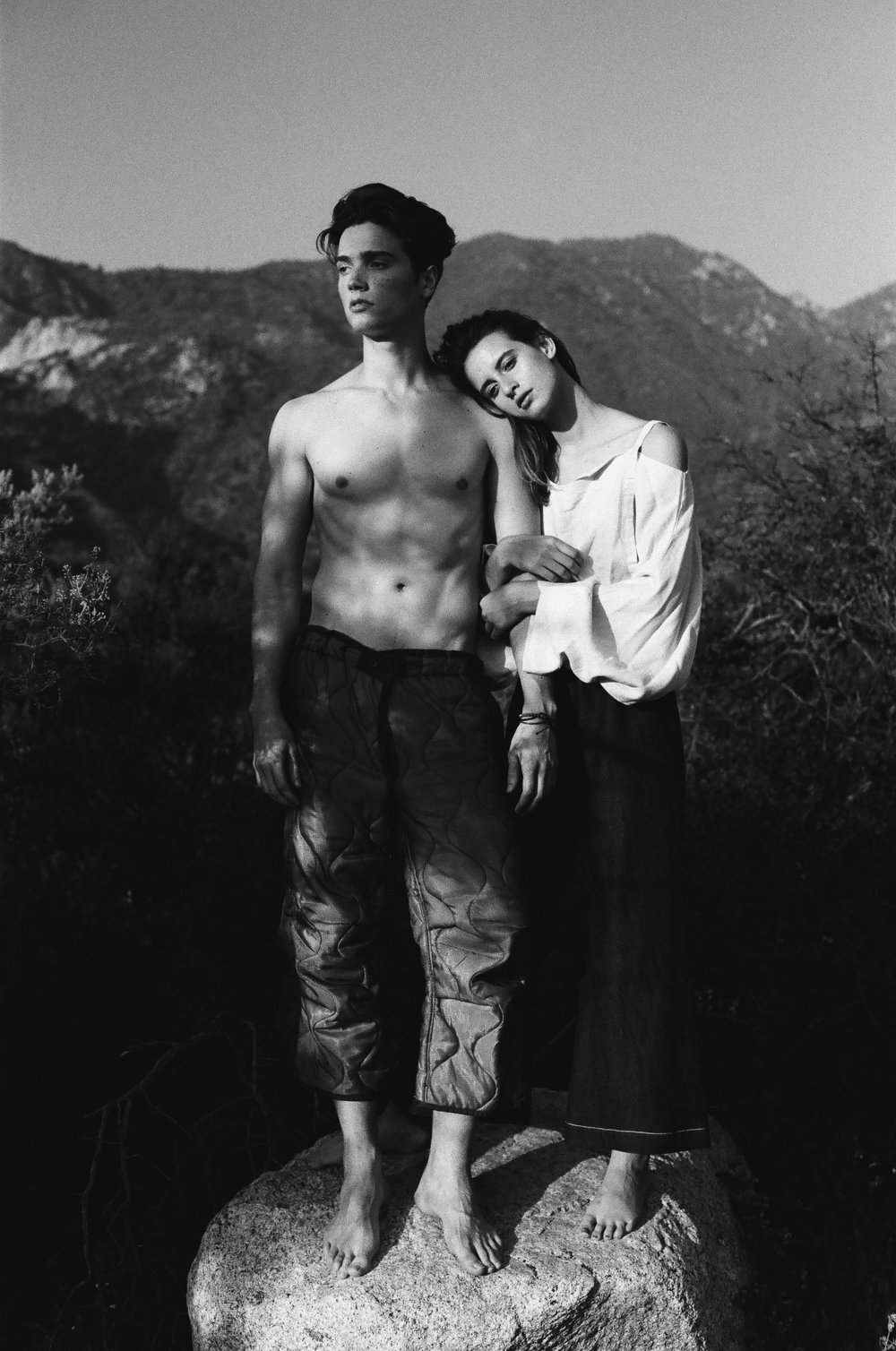 Keenan:Babylon Cartel pants Alexandra:Echo and Air top,Jill Aiko Yee pants