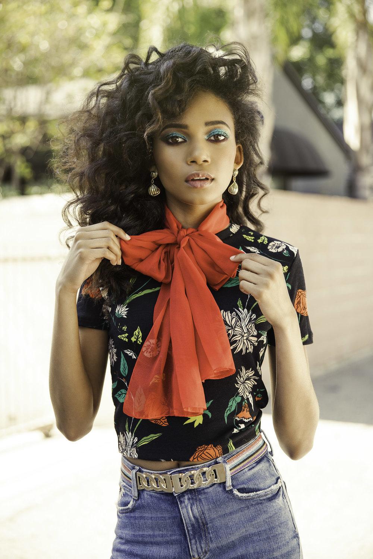 Zara top, Vintage red bow