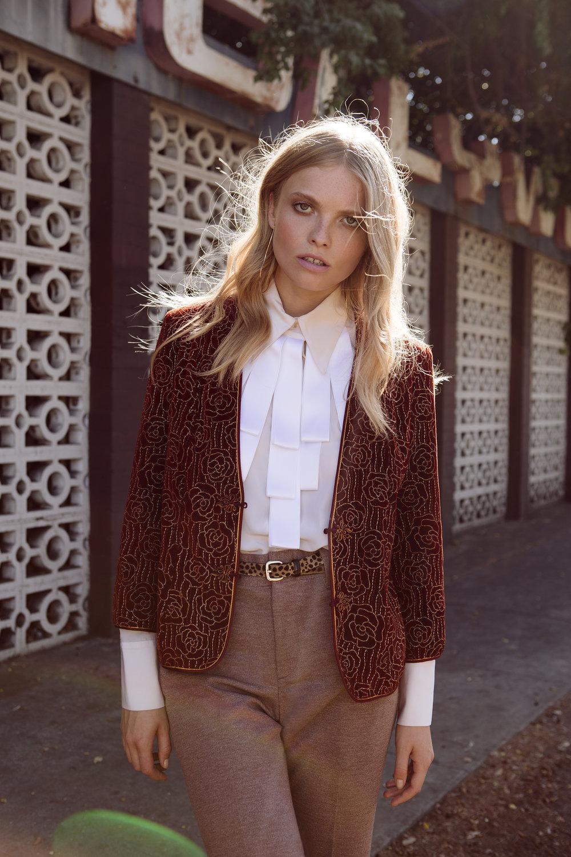 Saint Laurent jacket,Chloe blouse