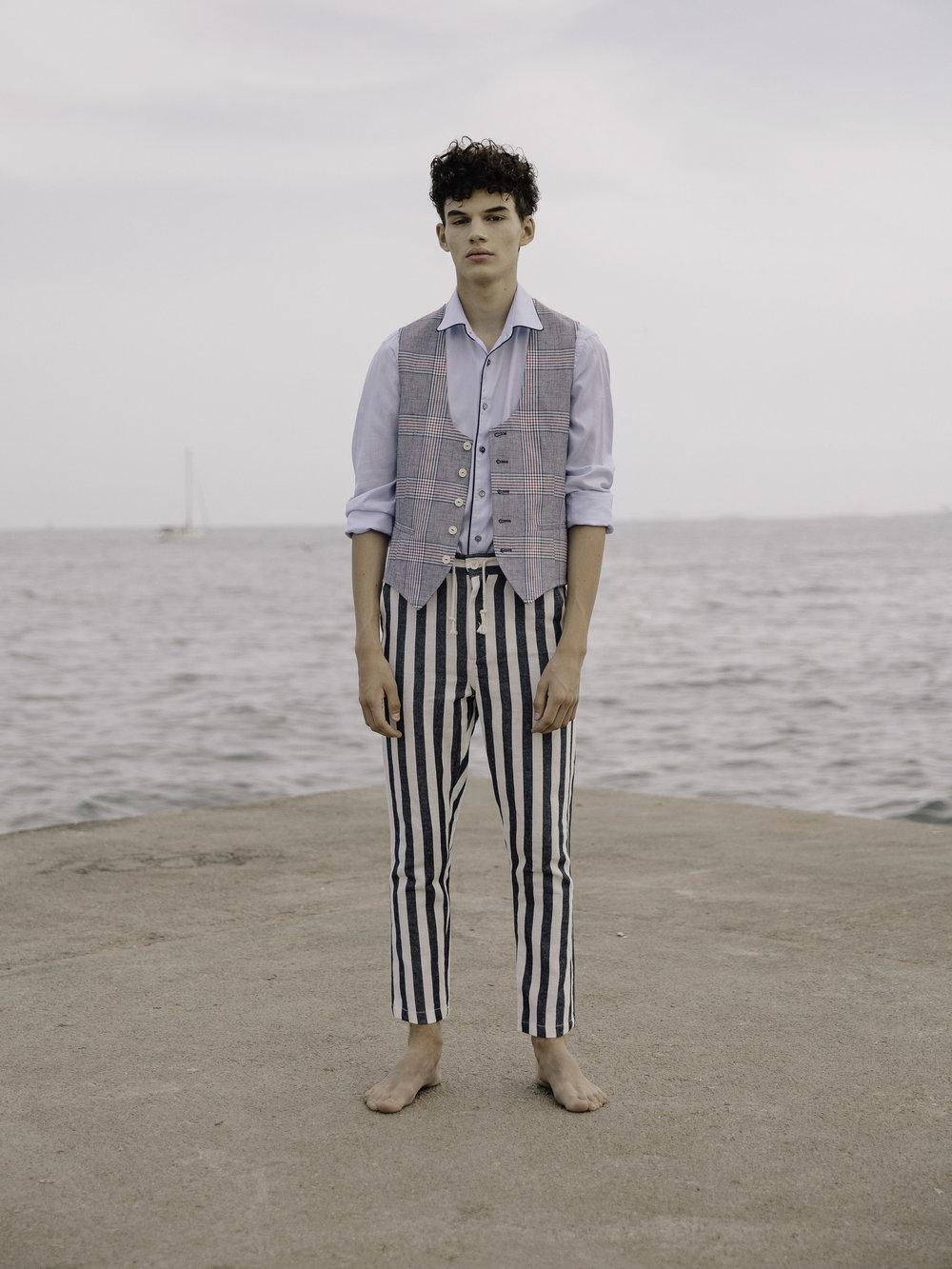 Zara vest and trousers,Mango shirt